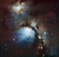 Reflection nebula Messier  image creditESO