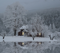 Reflection Of A Christmas Dream in Norway by Hilde S Jonsmyr