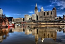Reflection of Cleveland USA