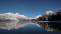 Reflection of Mountains in Lake McDonald in Glacier National Park March I love my hometown