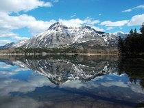 Reflection of Mt Vimy in Waterton Lakes National Park Alberta