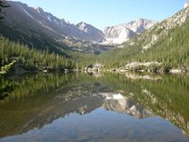 Reflection of the Rocky Mts in Colorado Lake