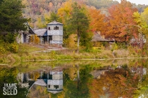 Reflections at Dogpatch USA Arkansas in October by Jamie Seed