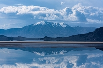 Reflections at one of the fastest spots on Earth Bonneville Salt Flats Utah USA OC x