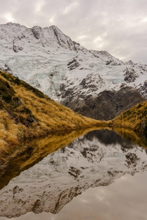 Reflections at Sealy Tarns on the South Island of NZ OC x