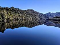 Reflections in the Gordon River South West Tasmania Australia  X  OC