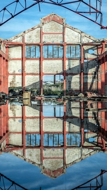 Reflections of the Past and Present Abandoned factory