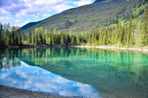 Reflections on a lake in Yoho National Park
