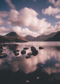 Reflections on Wast Water Lake District UK