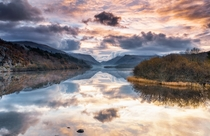 Reflections over Llyn Padarn North Wales