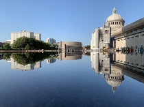 Reflective Pool in Boston next to the center of Christian Science