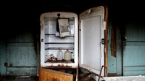 Refrigerator in Abandoned Farm House outside Mt Gilead NC