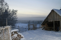 Reindeer farm in Lapland