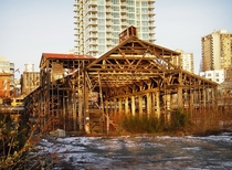Remains of a building at Burrard Dry Dock North Vancouver Western Canadas largest shipyard for over a century they built a number of notable ships particularly during WWII Closed in  the site is intended to be redeveloped as a maritime museum