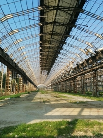 Remains of a car factory Milan Italy  X