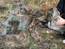 Remains of NBC suits found in an abandoned ammo testing and storage facility of the Red Army in East Germany