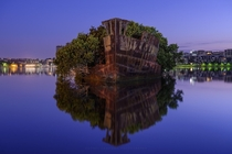Remains of the SS Ayrfield near Sydney Australia  by Rodney Campbell