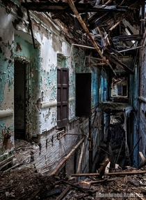 Remnants of a hallway in a state hospital