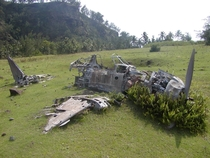 Remnants of a Japanese Mitsubishi Zero Fighter from WW The Mariana Islands Pagan Island Photo by Prizmcluster