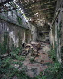 Remnants of a reclaimed power station in Italy