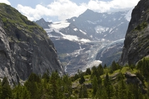 Remnants of the Grindelwald glacier Switzerland