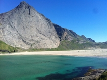 Remote beach in the Lofoten Islands