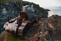 Renault FT Light Tank from WW emplaced by the Germans near Kongsfjord - Patrik Engman