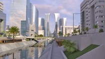 Render of the future Eko Atlantic City project of Lagos Nigeria  x