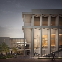 Render of the new physics building at the University of Cambridge which started construction this month designed by Jestico  Whiles