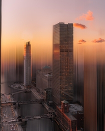 Rendering Chicago sunset