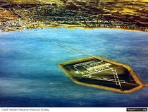 Rendering of the Unbuilt Lake Erie Jetport off the coast of Cleveland s