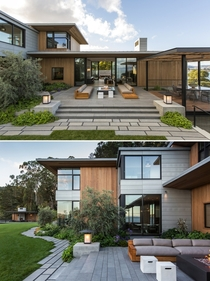 Residence on an east facing bluff of the Tiburon Peninsula overlooking the San Francisco Bay Marin County California by Walker Warner Architects Photo Laure Joliet