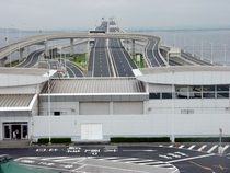 Rest Area on Umihotaru an artificial island thats part of the Tokyo Bay Aqua-Line Japan