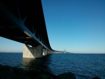 resund Bridge between Sweden and Denmark