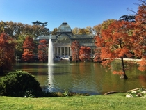 Retiro Park is a green oasis right in the center of Madrid Snapped this phone shot today at pm