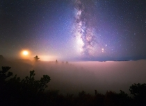 Revelation  - Milky Way above fog Santa Cruz CA IG ewingnicholas