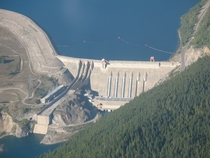 Revelstoke Dam spanning the Columbia River north of Revelstoke British Columbia