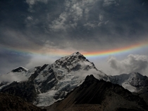 Reverse rainbow at the Nuptse summit in Nepal  by Neha Gadhari