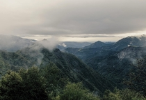 Rewarded with a stunning view after driving through a thick fog for an hour Sequoia National Park California