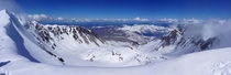 Rewarding view for splitboarding to the top of Mount St Helens Washington Ride down was also wicked  x