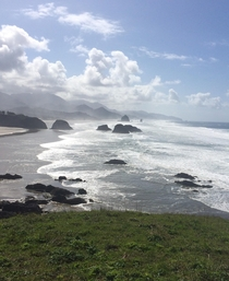 Rewarding view from Ecola State Park Oregon
