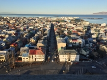 Reykjavik from clock tower   x