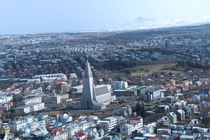 Reykjavik from the Air Feat Hallgrmskirkja
