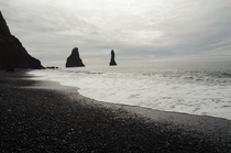 Reynisfjara the black sand beach on Icelands Southern coast