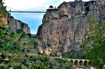 Rhumel canyon with three bridges in Constantine Algeria
