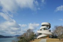 Ribbon Chapel By Hiroshi Nakamura amp NAP Co The chapel overlooking the Inland Sea of Japan is configured as a double spiral formed by two stairways Starting from different locations the stairways slowly spiral upward to become onea device symbolic of the