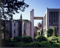 Ricardo Bofill a Spanish architect bought a disused cement factory outside Barcelona and has since transformed it into one of the most beautiful spaces Ive ever seen  Ive posted more of the interior in rinteriordesign source and more photos of the process