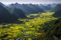 Rice plots in the Bac Son Valley Vietnam
