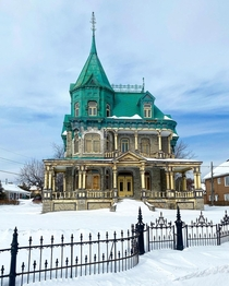 Richard Castle a  eclectic Victorian house currently left unkept and abandoned LAnge-Gardien Quebec Canada