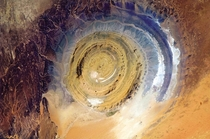 Richat Structure a geological phenomenon in Sahara desert also known as the Eye of the Sahara  by Chris Hadfield